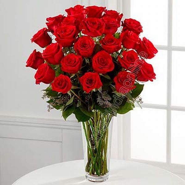 30 Red Roses Vase