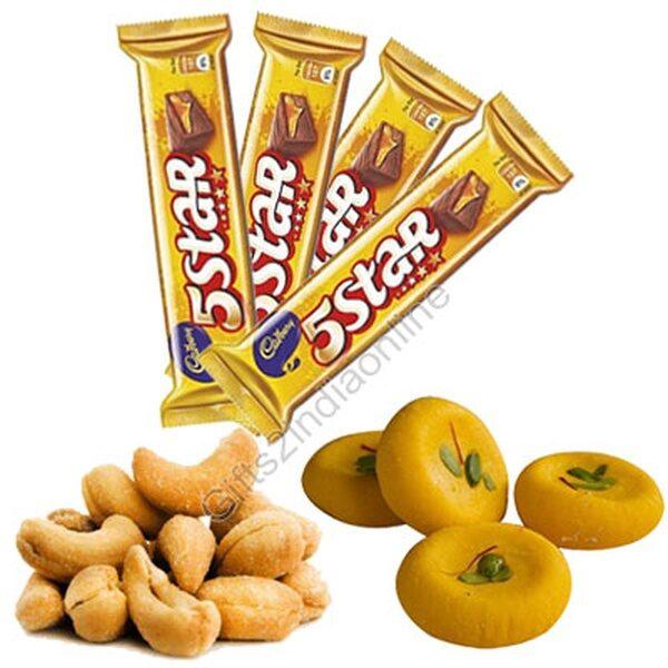 Kesadia Peda, 5 Star Chocolates, Roasted Kaju,