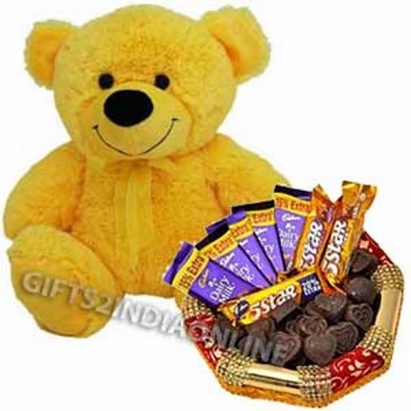 Chocolate and Teddy Hamper
