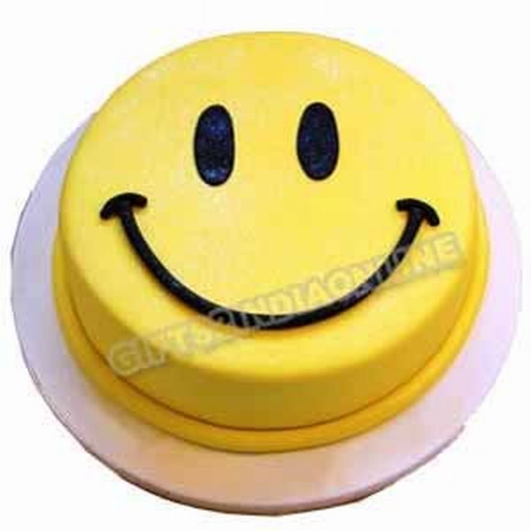 Eggless Smiley Cake