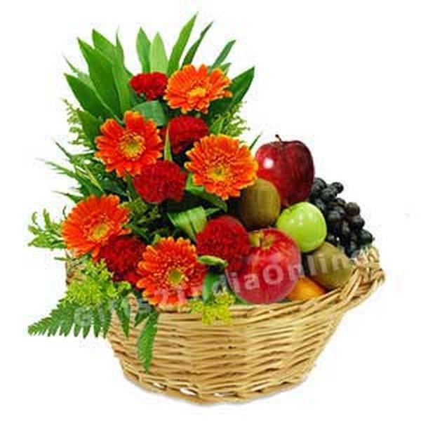 Midnight Fruits & Flower Basket