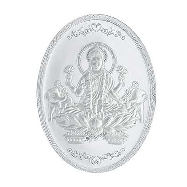 10 Gm Laxmi Oval Silver Coin