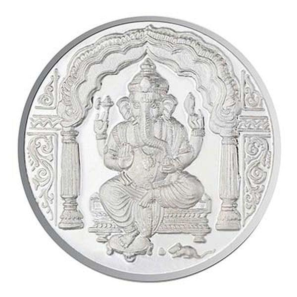 10 Gms Ganesh Silver Coin