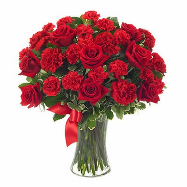 arrangement of Carnations and Roses