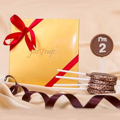 Classic I' M 2 chocolate lollipop