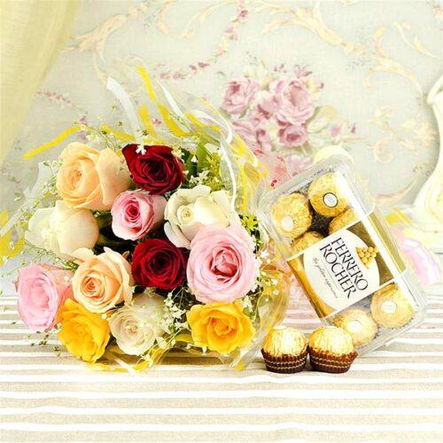 Ferrro Rocher & Vibrant Roses