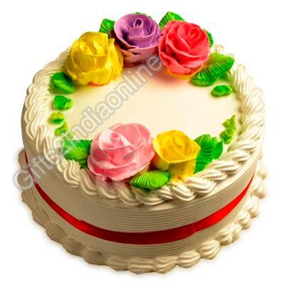 Floral Butterscotch cake